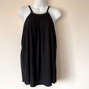 NAÏF Large Black sleeveless Black Blouse